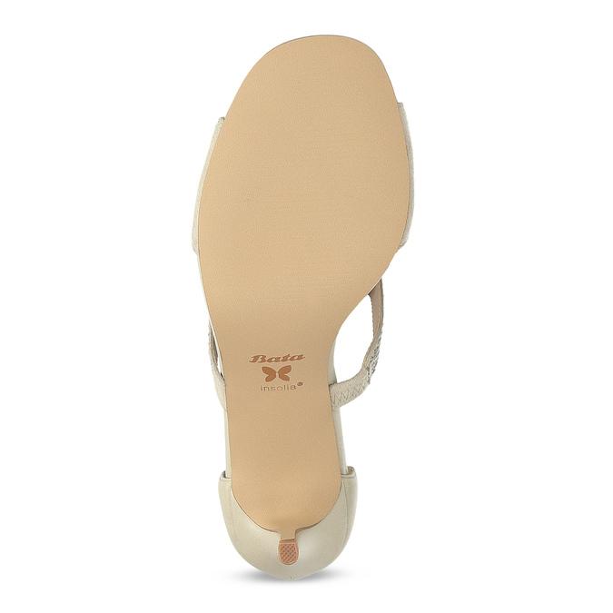 c8c067520c Insolia Béžové dámske sandále na podpätku s kamienkami - Insolia ...