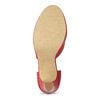 Červené kožené lodičky s asymetrickým remienkom insolia, červená, 724-5662 - 18