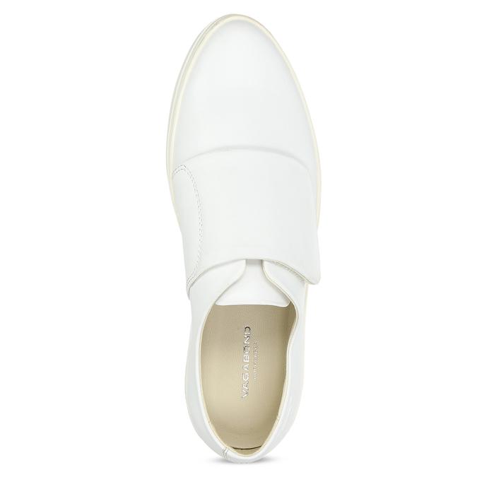 Biele kožené dámske tenisky so suchým zipsom vagabond, biela, 616-1080 - 17