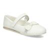 Biele detské baleríny s mašľou a kamienkami mini-b, biela, 221-1105 - 13