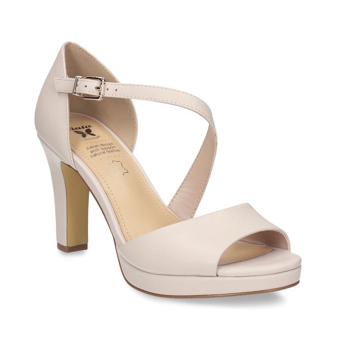 bb695a5dd3f5 Insolia Telové kožené sandále s asymetrickým remienkom - Všetky ...