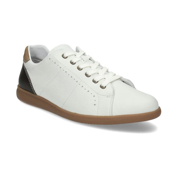 c621a9f3d780 Flexible Pánske biele ležérne kožené tenisky - Poltopánky