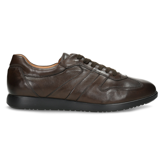 Kožené hnedé pánske tenisky bata, hnedá, 826-4686 - 19