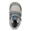Šedé členkové detské tenisky na suchý zips bubble-breathe, šedá, 111-2701 - 17