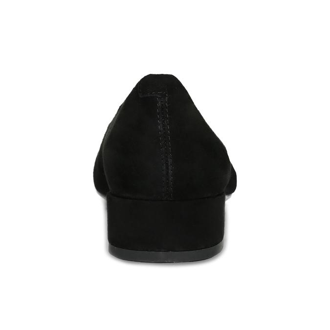 Dámske čierne lodičky z brúsenej kože vagabond, čierna, 623-6097 - 15