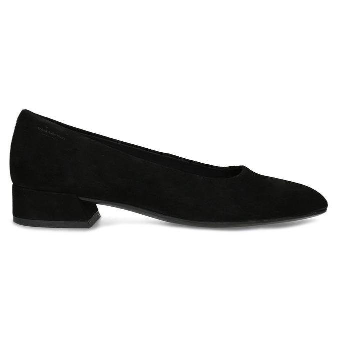 Dámske čierne lodičky z brúsenej kože vagabond, čierna, 623-6097 - 19