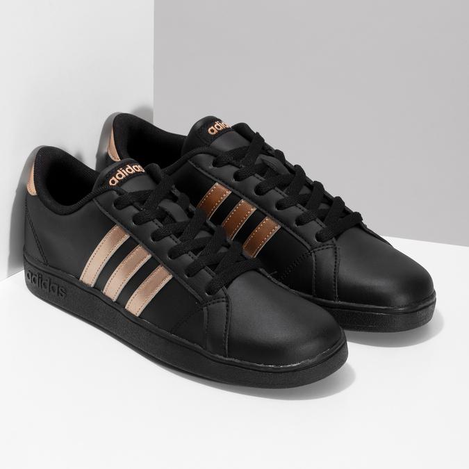 Čierno-zlaté detské tenisky adidas, čierna, 401-6164 - 26