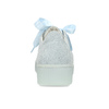 Kožené tenisky s mašľou modré bata, modrá, 543-9600 - 15