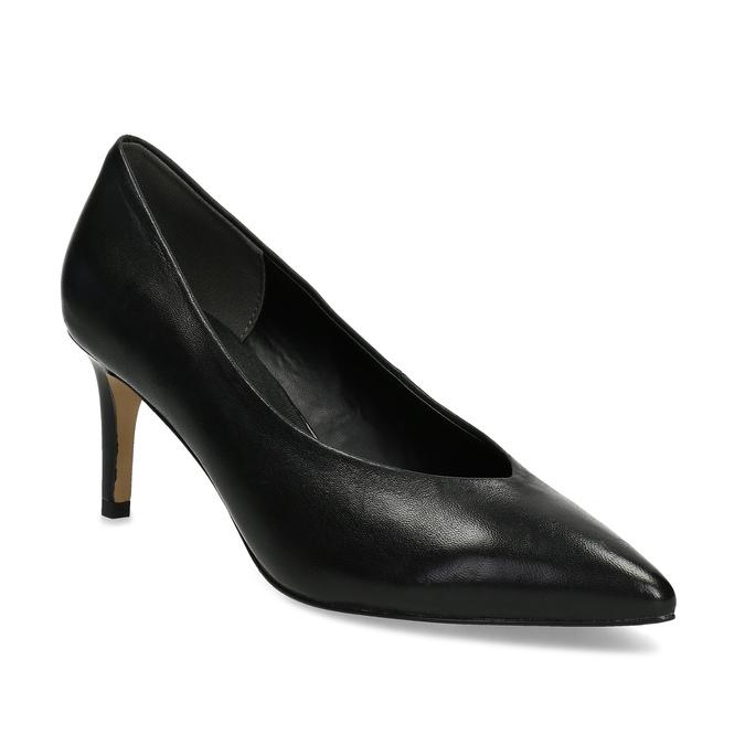 cd92535fb7e6 Pillow Padding Čierne kožené lodičky do špičky - Všetky topánky ...