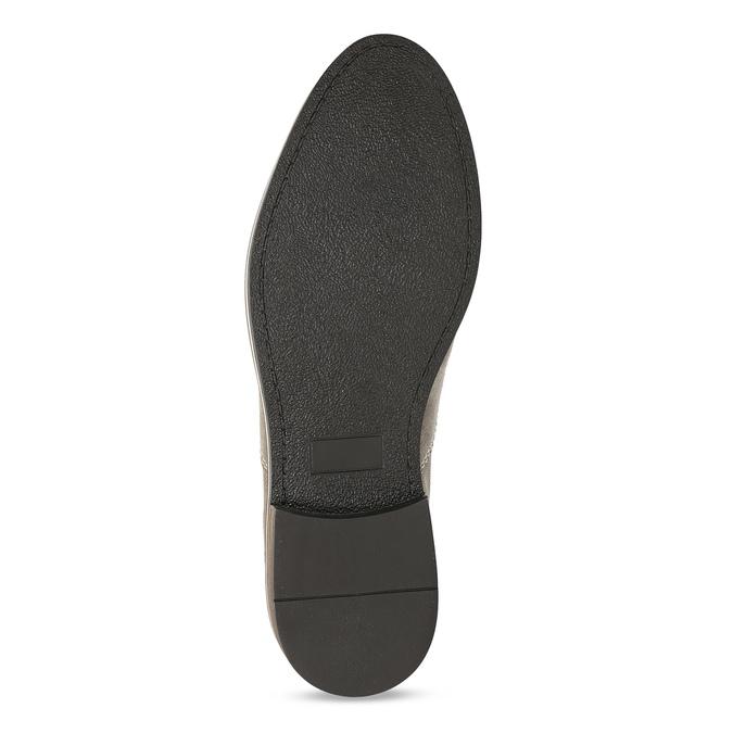 Pánske poltopánky z brúsenej kože bata, béžová, 823-2634 - 18