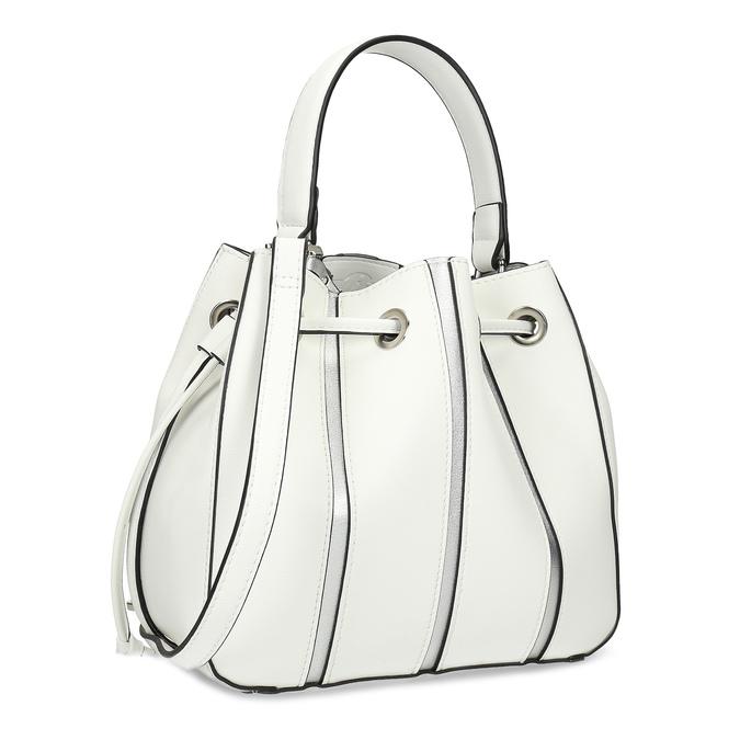 Dámska biela kabelka v štýle Bucket Bag bata, biela, 961-1964 - 13