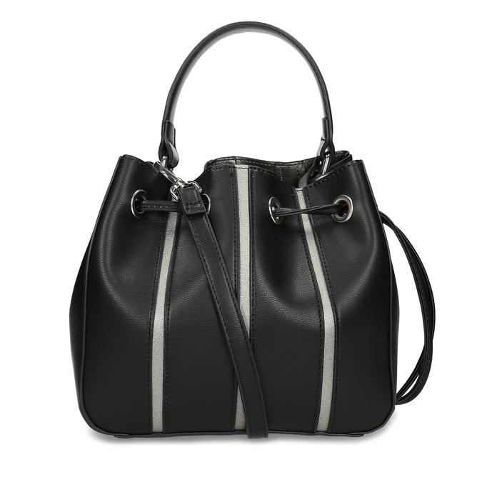 Čierna kabelka v štýle Bucket Bag bata, čierna, 961-6964 - 16