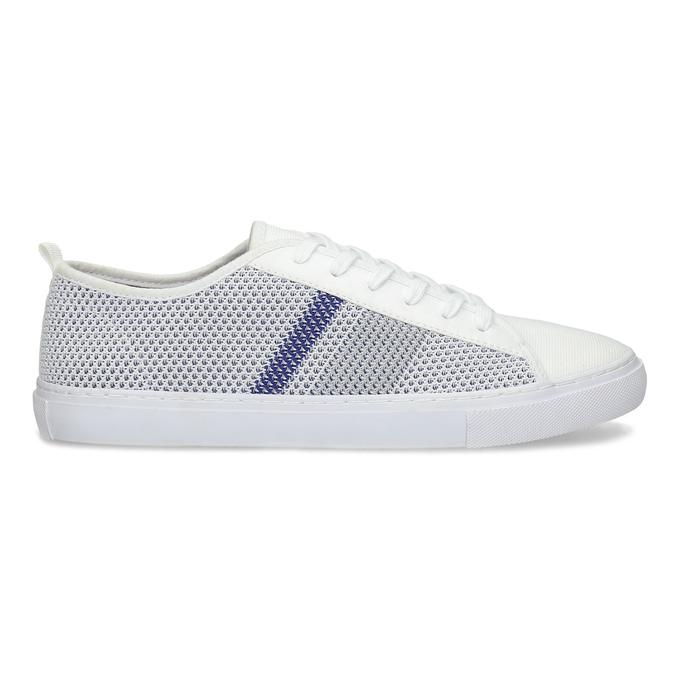 Bielo-modré priedušné tenisky bata-red-label, biela, 849-1601 - 19