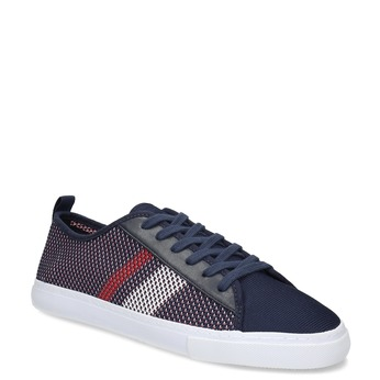 Pánske tmavomodré tenisky s pruhmi bata-red-label, modrá, 849-9601 - 13