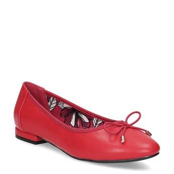 Červené baleríny smašľou bata, červená, 521-5650 - 13