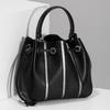 Čierna kabelka v štýle Bucket Bag bata, čierna, 961-6964 - 17