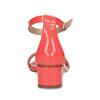 Dámske sandále na nízkom podpätku insolia, červená, 661-5620 - 15