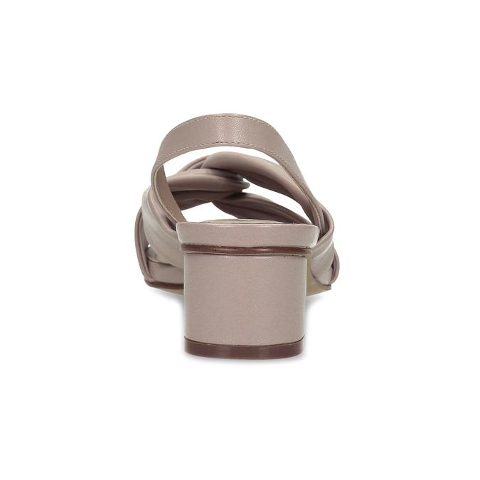 Dámske béžové sandále na nízkom podpätku insolia, béžová, 661-8621 - 15