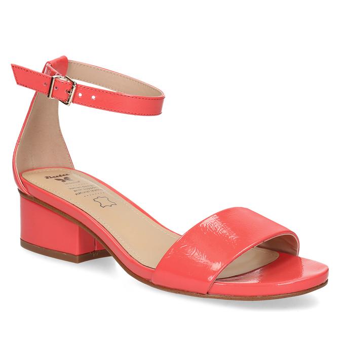 Dámske sandále na nízkom podpätku insolia, červená, 661-5620 - 13