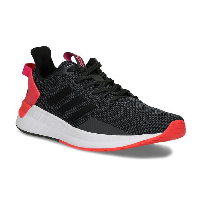 Čierne dámske tenisky s červenými detailami adidas, čierna, 509-2129 - 13