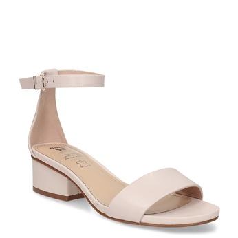 Telové dámske sandále na nízkom podpätku insolia, ružová, 661-8620 - 13