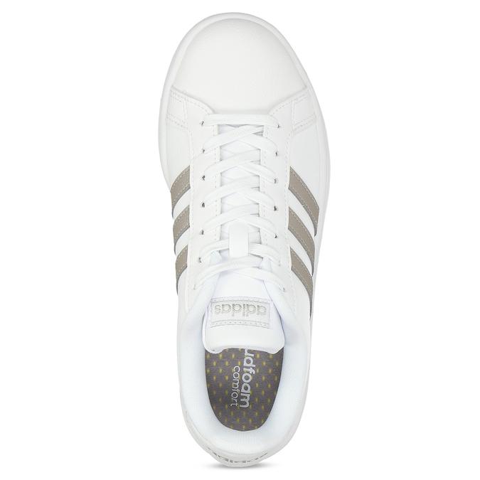 Biele dámske ležérne tenisky adidas, biela, 501-1249 - 17