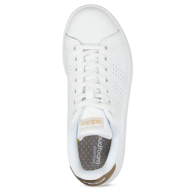 Dámske biele tenisky s perforáciou adidas, biela, 501-1854 - 17