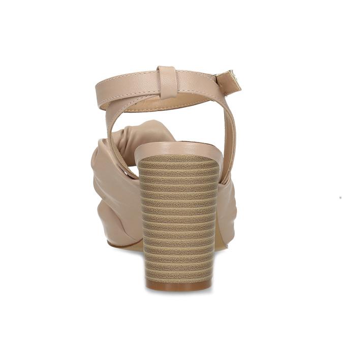 Dámske telové sandále na stabilnom podpätku insolia, ružová, 761-8643 - 15