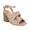 Dámske telové sandále na stabilnom podpätku insolia, ružová, 761-8643 - 13