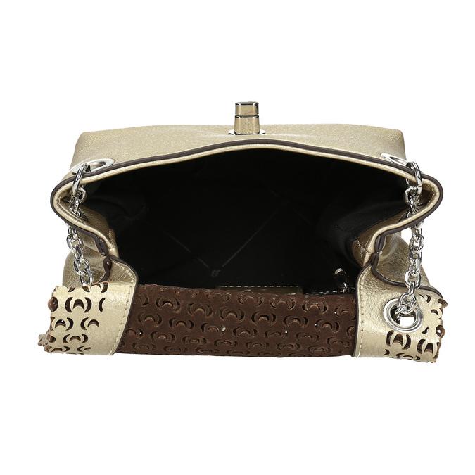 Zlatá dámska Crossbody kabelka s perforáciou bata, zlatá, 961-8941 - 15
