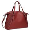 Červená dámska kabelka s perforáciou bata, červená, 961-5888 - 13