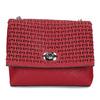 Červená Crossbody kabelka s perforáciou bata, červená, 961-5941 - 26