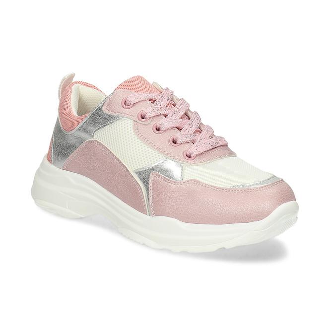 Dievčenské detské tenisky strieborno-ružové mini-b, ružová, 321-5684 - 13
