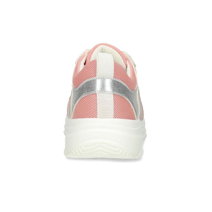 Dievčenské detské tenisky strieborno-ružové mini-b, ružová, 321-5684 - 15