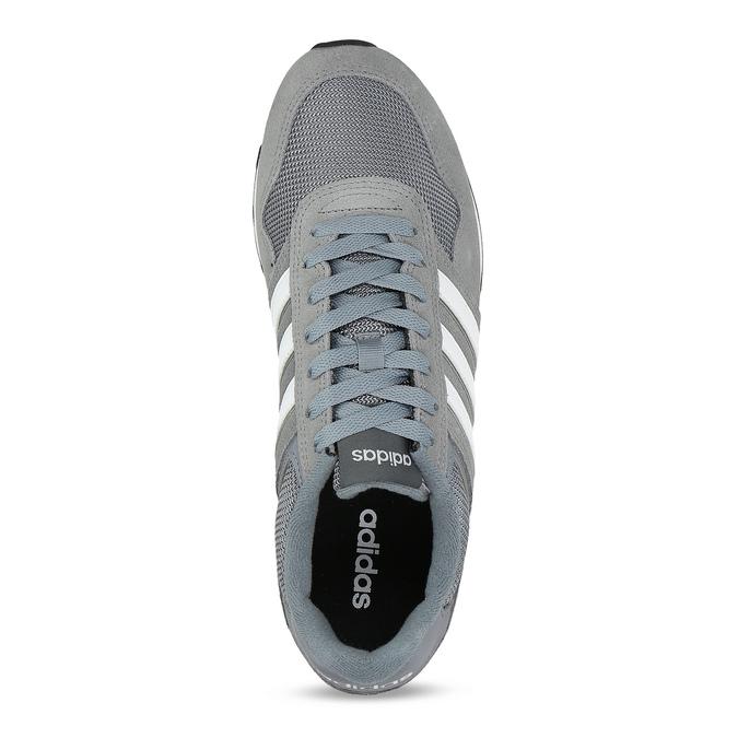 Pánske sivé tenisky kožené adidas, šedá, 803-2102 - 17