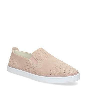 Ružové kožené slip-on tenisky bata, ružová, 533-5601 - 13