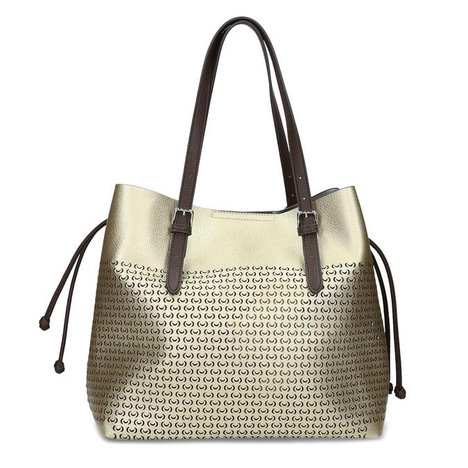 Zlatá dámska kabelka s perforáciou bata, zlatá, 961-8866 - 26