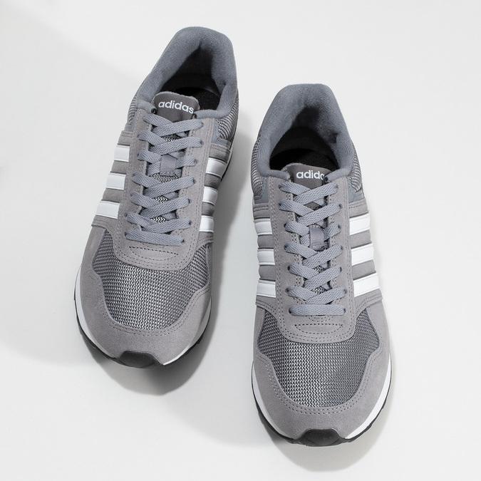 Pánske sivé tenisky kožené adidas, šedá, 803-2102 - 16