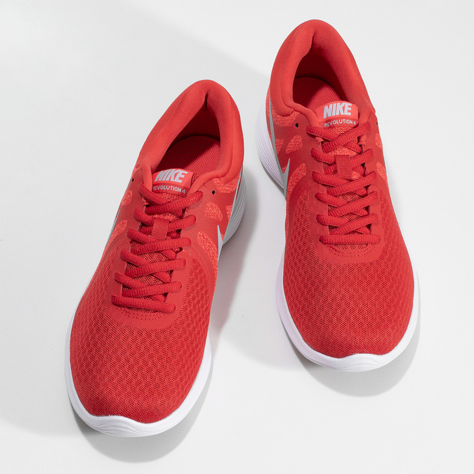 Červené pánske tenisky s bielou podrážkou nike, červená, 809-5100 - 16