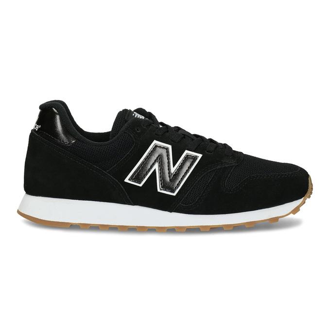 Čierne dámske kožené tenisky new-balance, čierna, 503-6114 - 19