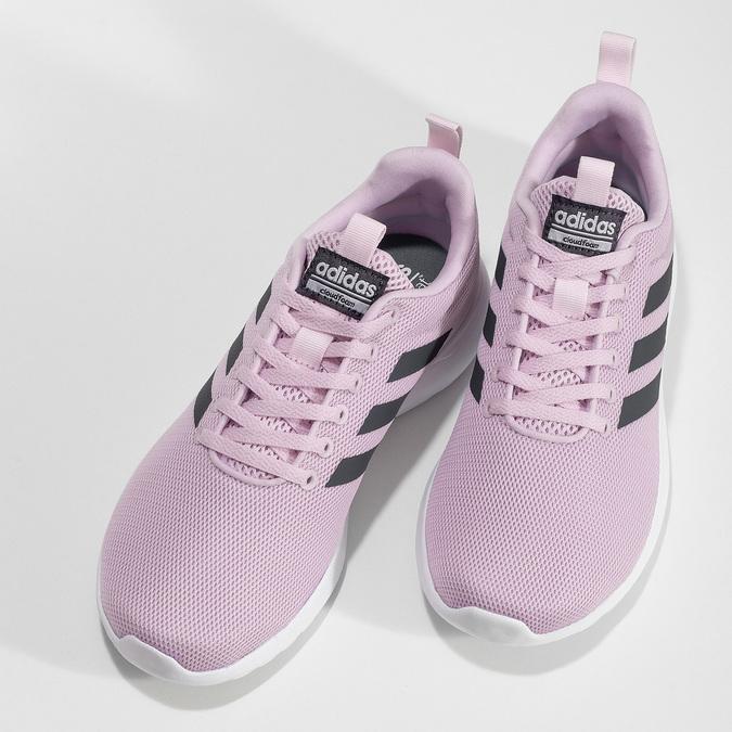 Ružové dámske tenisky s bielou podrážkou adidas, ružová, 509-5102 - 16