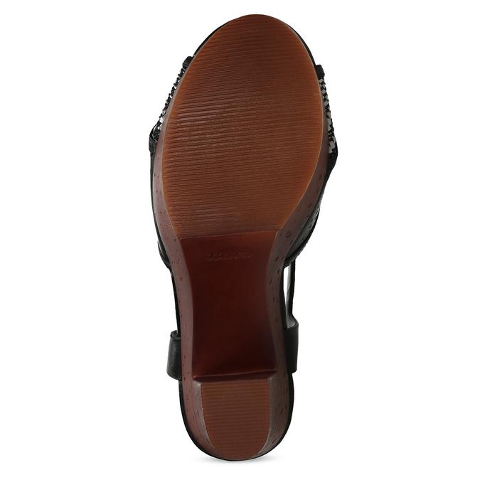 Dámske čierne sandále na prírodnej platforme insolia, čierna, 761-6645 - 18