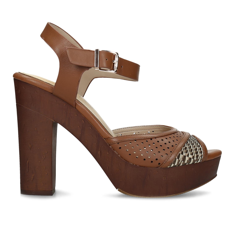 d736b6dd9 ... Dámske hnedé sandále na stabilnom podpätku insolia, hnedá, 761-3645 -  19 ...