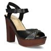 Dámske čierne sandále na prírodnej platforme insolia, čierna, 761-6645 - 13