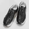 Čierne dámske tenisky na pruhovanej flatforme bata-light, čierna, 621-6656 - 16