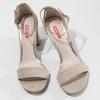 Béžové dámske sandále na stabilnom podpätku bata-red-label, béžová, 769-8641 - 16