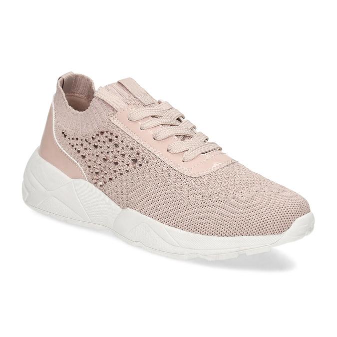 Dámske tenisky ružové s kamienkami bata-light, ružová, 549-5615 - 13