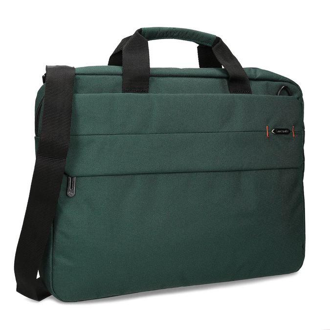 Zelená cestovná taška s popruhom samsonite, zelená, 960-7068 - 13