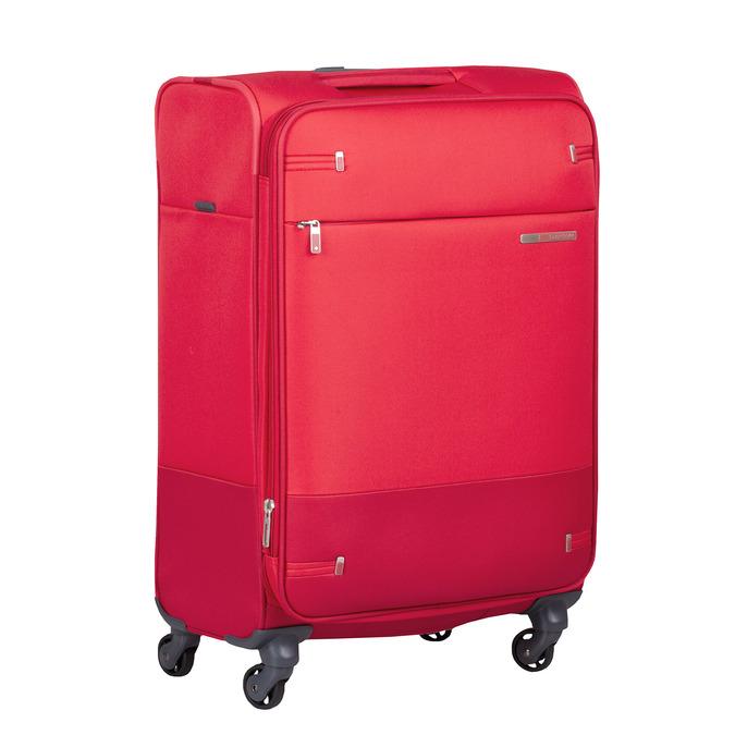 Červený stredný textilný kufor samsonite, červená, 960-5039 - 13