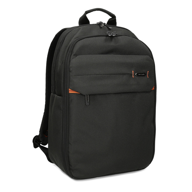 Čierny kvalitný cestovný batoh samsonite, čierna, 960-6056 - 13